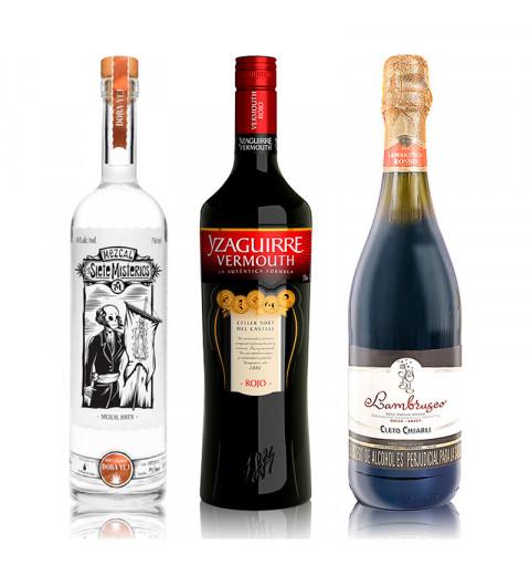 Vermouth Yzaguirre Rojo (1000 ml)  + GRATIS 2 vasos