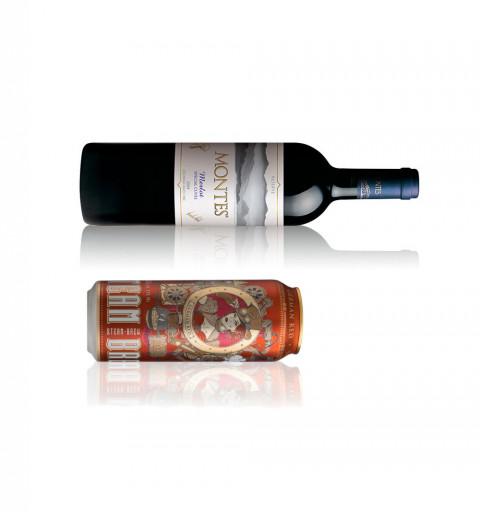 Vino Tinto - Montes Merlot + Cerveza Steam Brew German Red