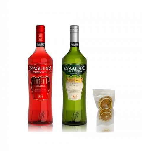 Vermouth - Yzaguirre Rosado + Yzaguirre Dry Blanco + Gratis Naranjas Deshidratadas