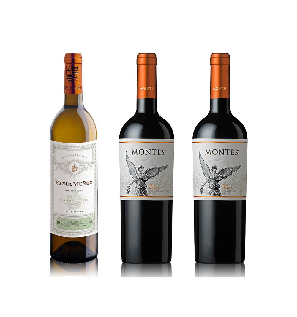 Vino Blanco - Finca Muñoz Macabeo Verdejo + 2 Montes Classic Malbec