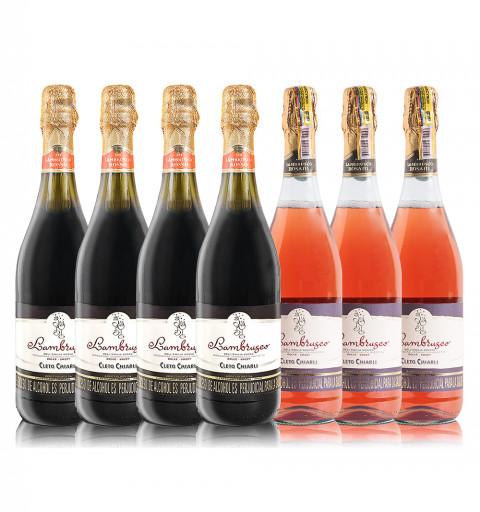 7 botellas Lambrusco Cleto...