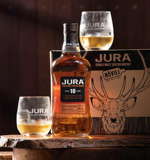 Whisky Jura 10YO + 2 vasos...