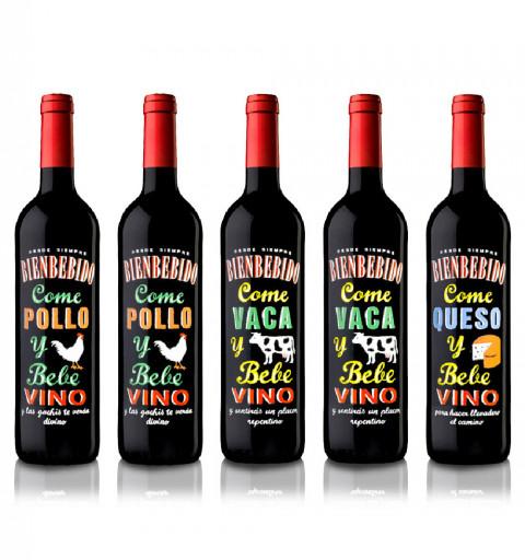 5 botellas de Bienbebido:...