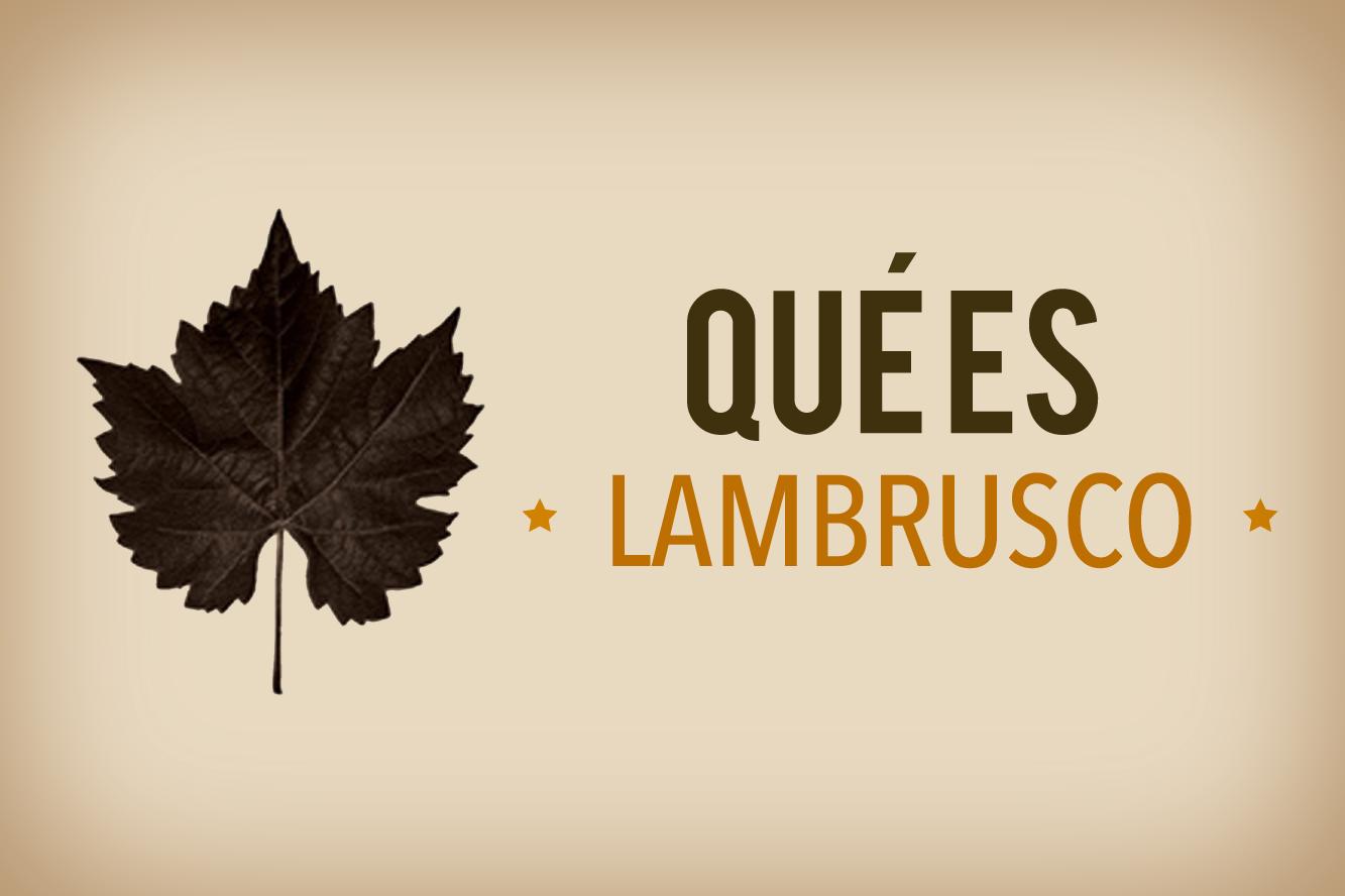 ¿Qué es lambrusco?