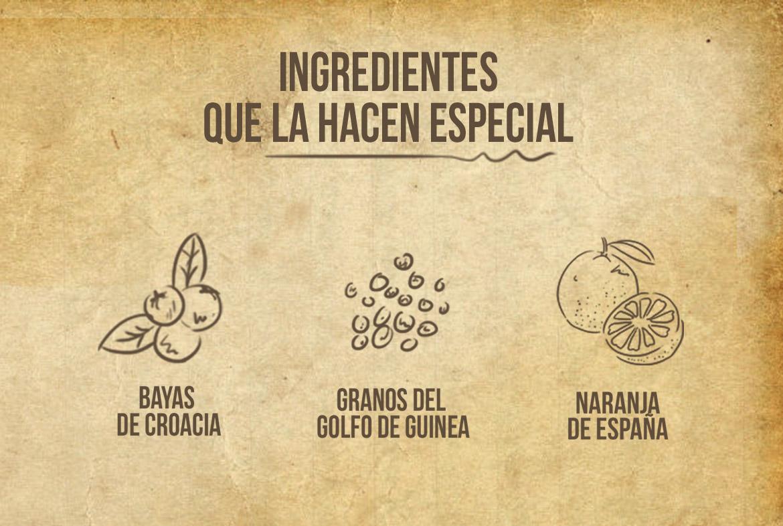 Algunos de los ingredientes de Fifty Piunds