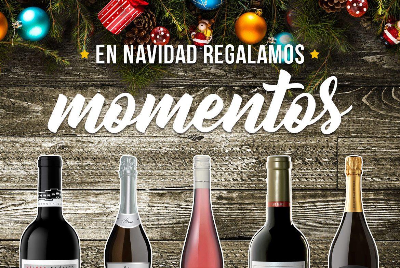 Regalos de navidad con vino