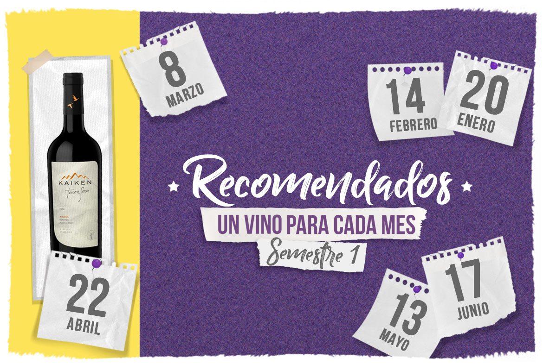 Wine Calendar: Vinos recomendados (parte 1)