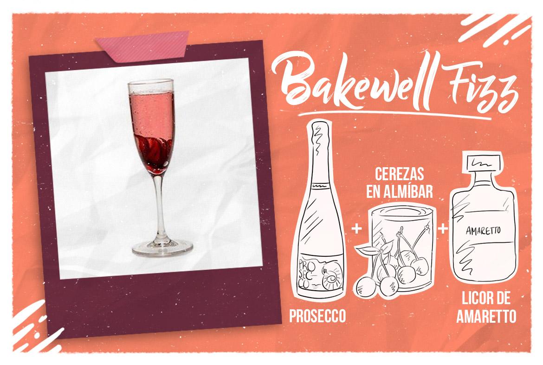 Cóctel con prosecco: Bakewell fizz