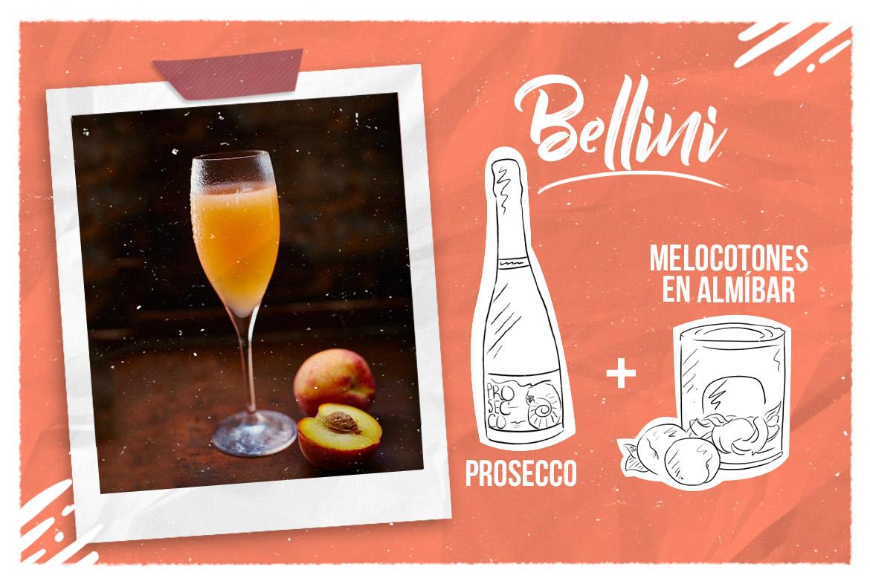 Cóctel con prosecco: Bellini