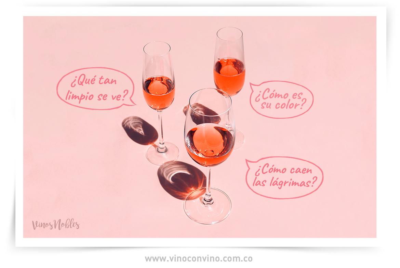 Color, limpidez y fluidez del vino