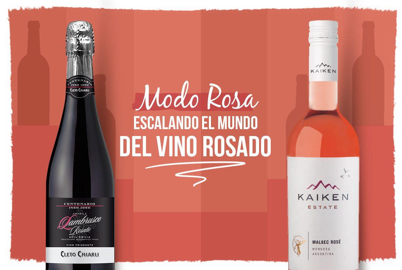 Escalando los vinos rosados