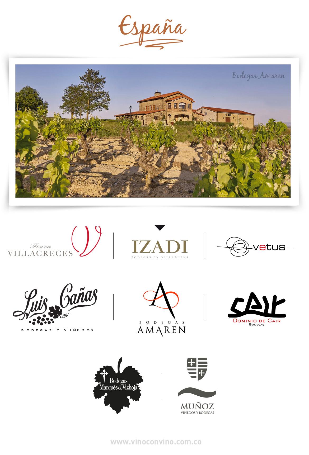 Nuestras bodegas de vino españolas