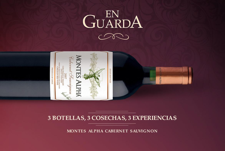 3 botellas, 3 cosechas, 3 experiencias con nuestro Montes Alpha Cabernet Sauvignon