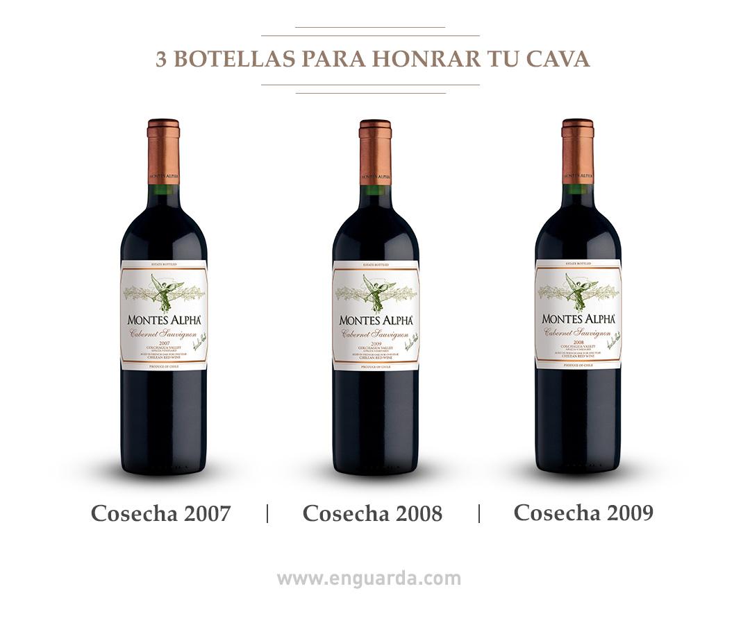 Montes Alpha Cabernet Sauvignon, cosecha 2007, 2008 y 2009