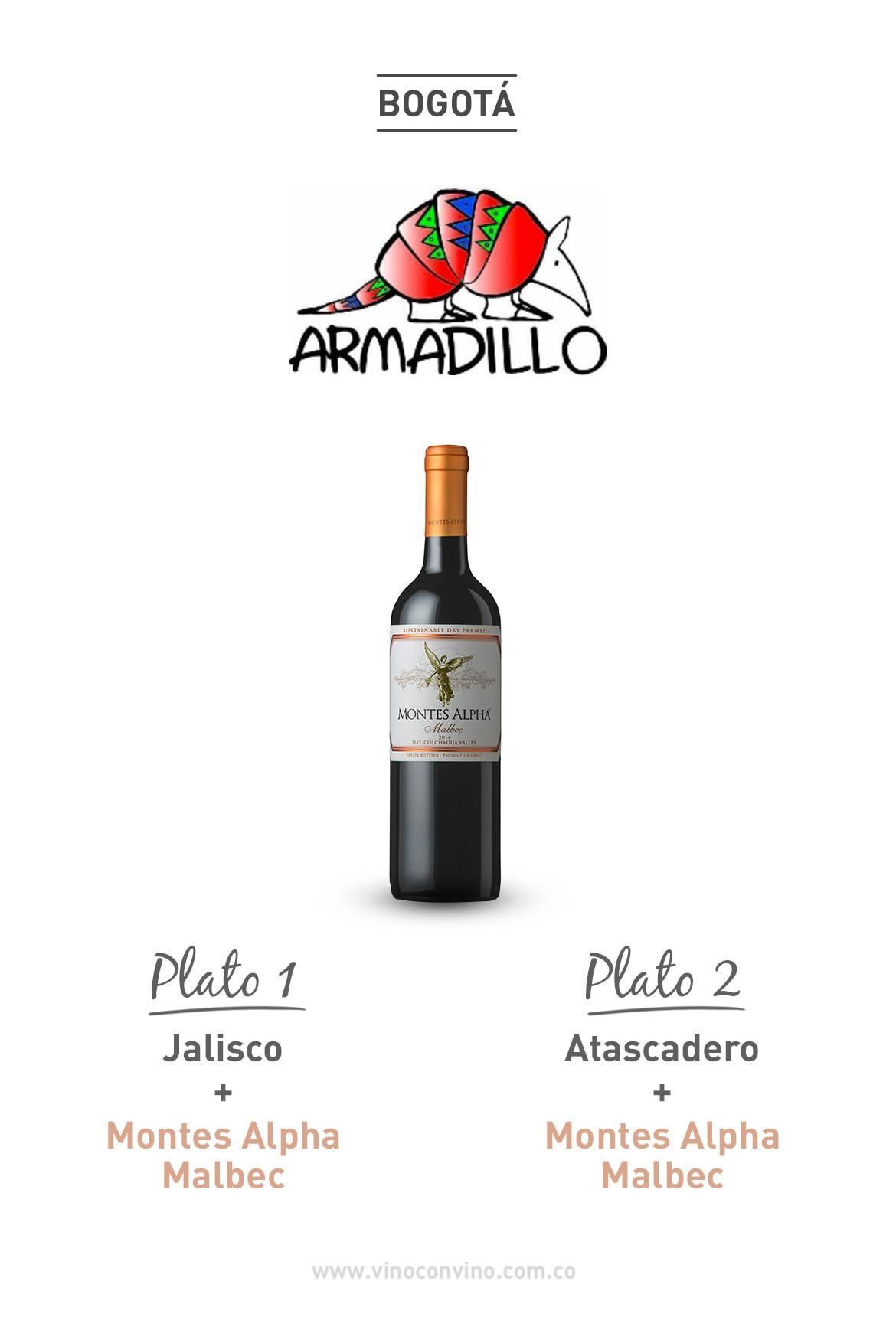 Parrilla y Malbec. Restaurante Armadillo