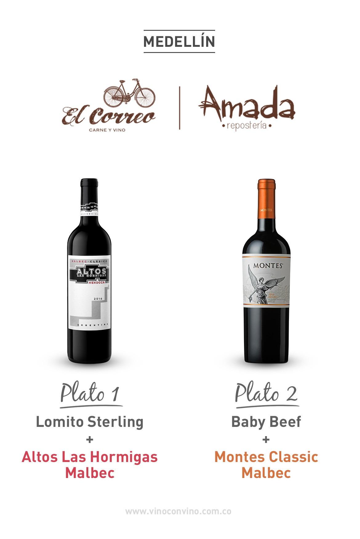 Parrilla y Malbec. Restaurante El Correo y Amada