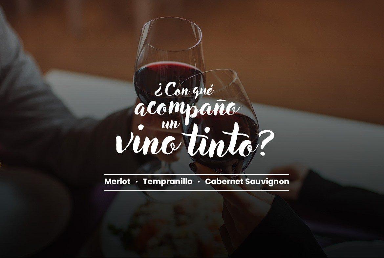¿Con qué acompaño una copa de vino tinto? Merlot, Tempranillo, Cabernet Sauvignon - Blog vinoconvino