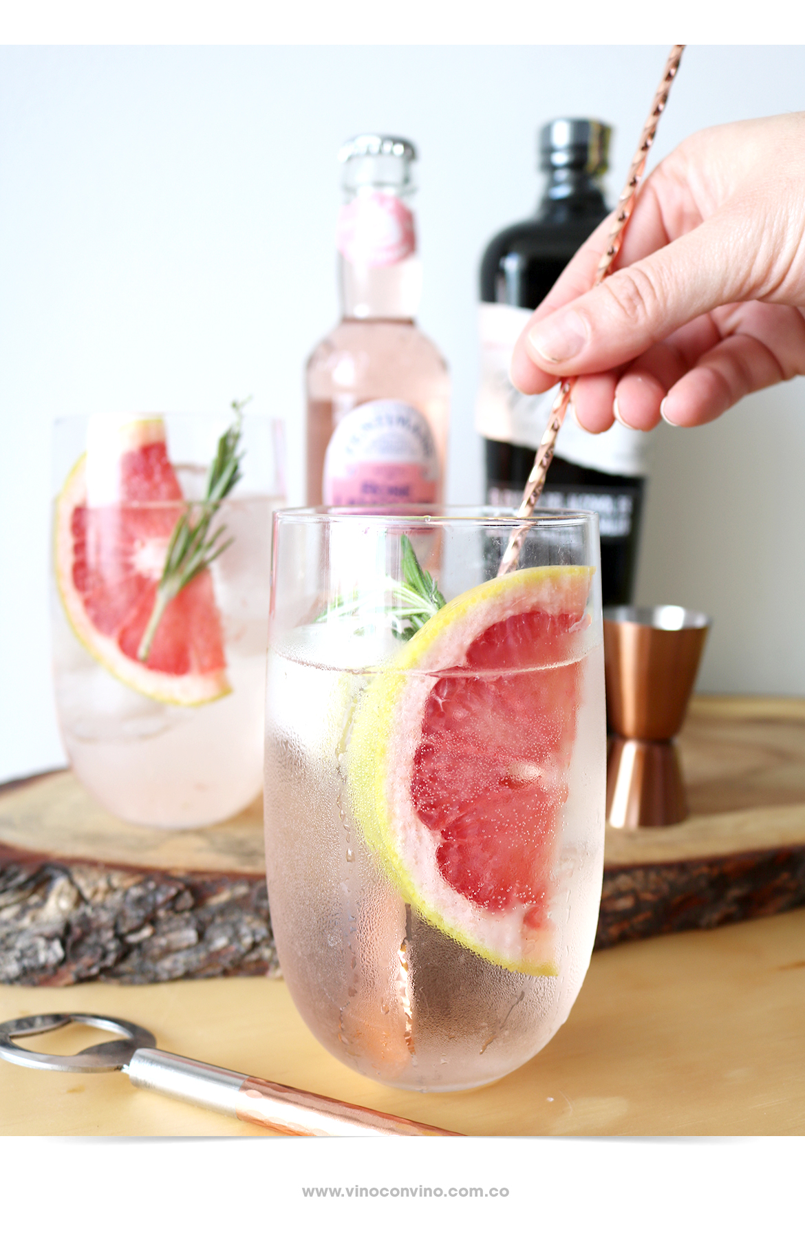 Así se ve un Gin&Rosé Lemonade