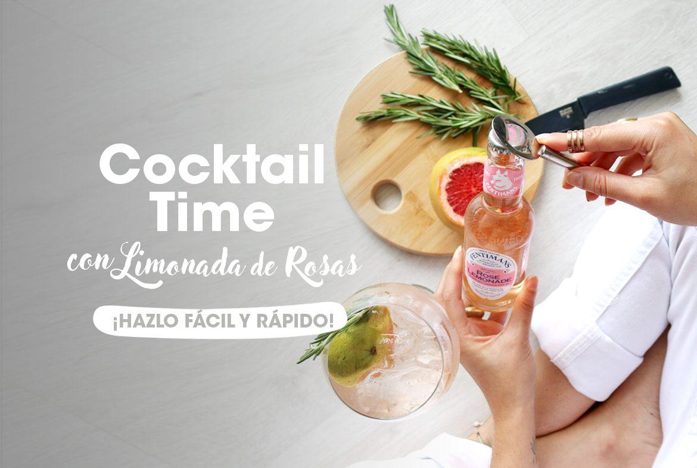 Recetas de cócteles con Limonada de rosas fentimans