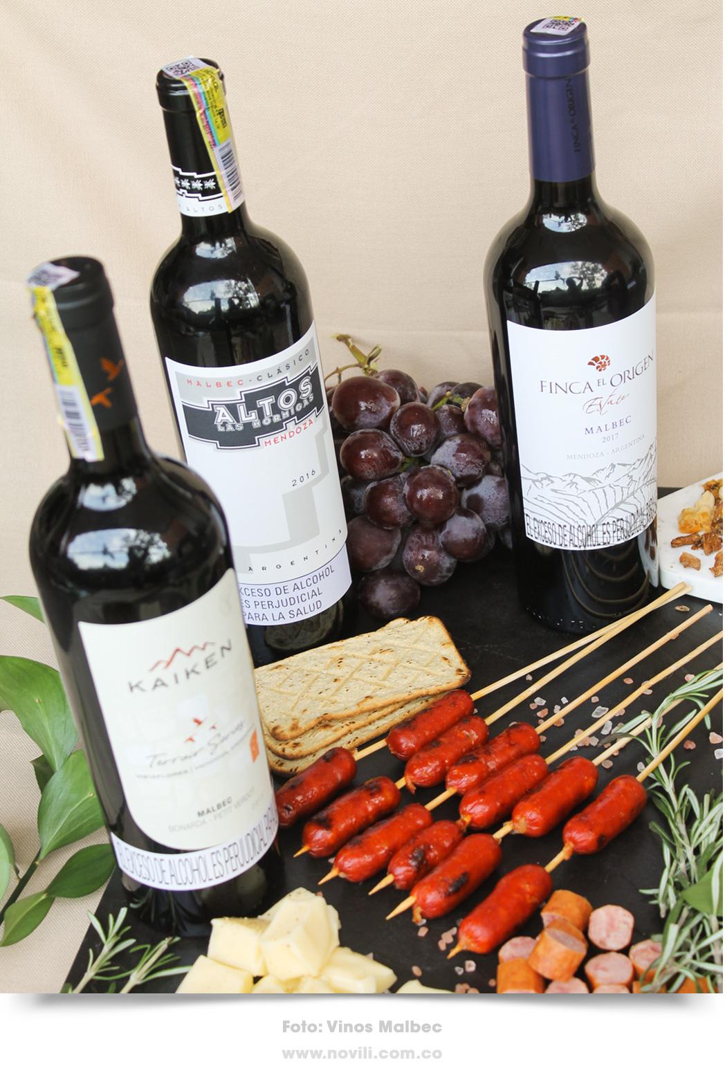 Vinos Malbec, perfectos para acompañar