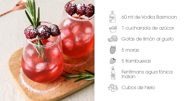 Receta cóctel frutos rojos: Vodka pasión