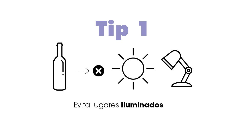 ¿Cómo guardar el vino?: evita lugares iluminados