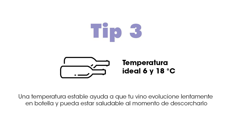 temperatura para almacenar el vino.