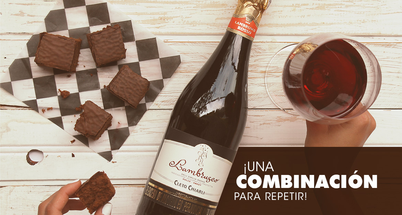Maridajes con chocolate y vino: chocolate con lambrusco.