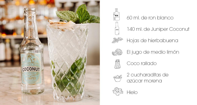 Cócteles con Juniper- Coconut Mojito