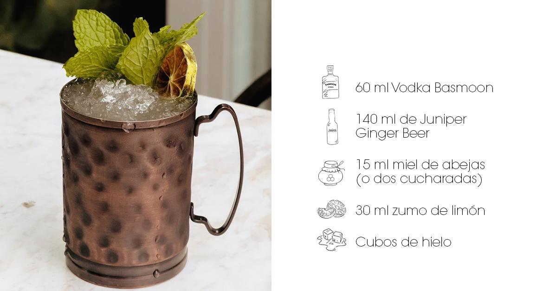 Cócteles con Juniper- Honey Moscow Mule