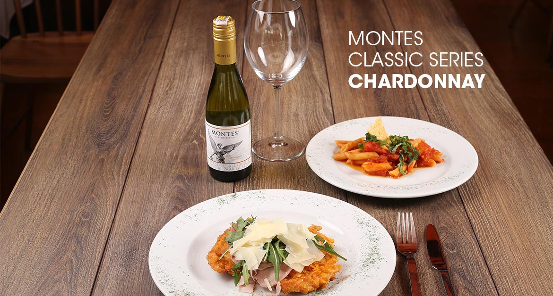 Media botella Montes Classic Series Chardonnay