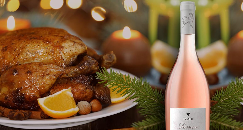 Cena Navideña con vino