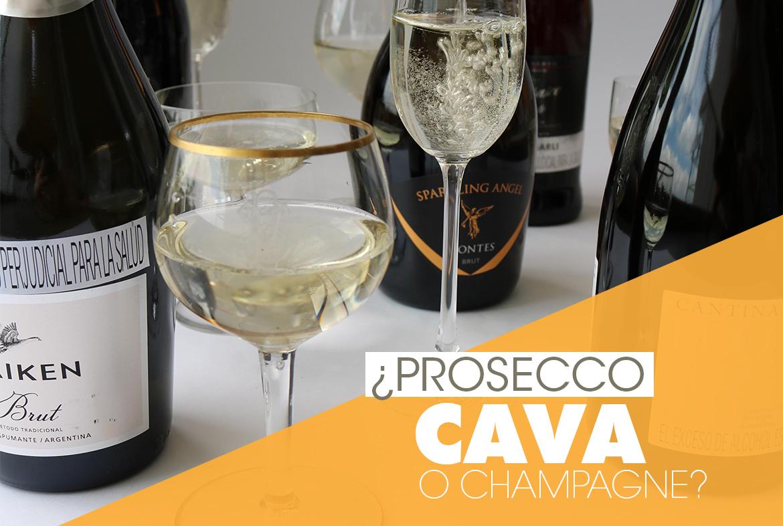 Espumantes recomendados para celebrar: champagne, cava o prosecco