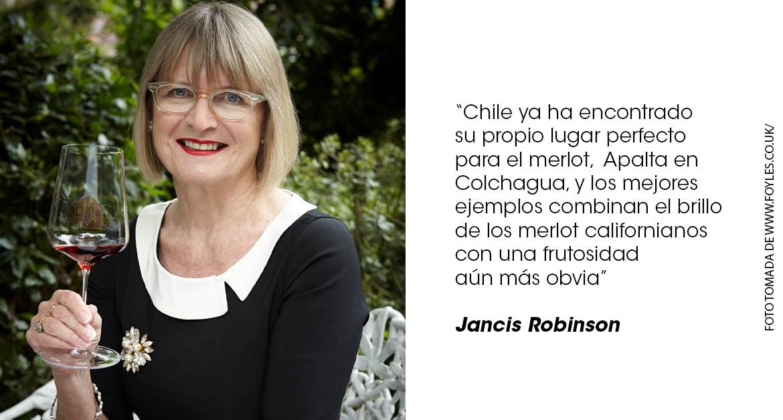 Jancis Robinson frase Merlot Chile