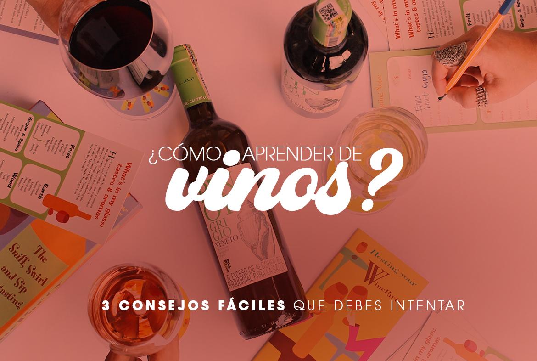 ¿Cómo aprender de vinos? 3 consejos fáciles que debes intentar