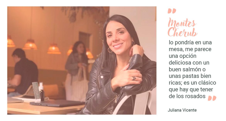recomendación Juliana Vicente Dónde Comer, vino Montes Cherub