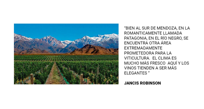 Jancis Robinson, Sur de Mendoza