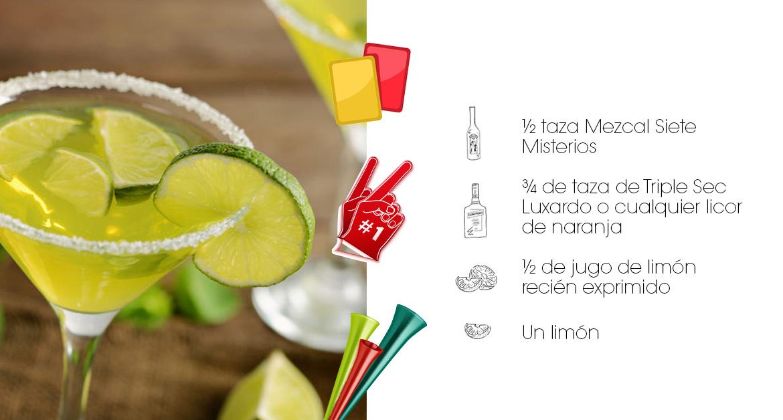 Preparación Margarita con Mezcal