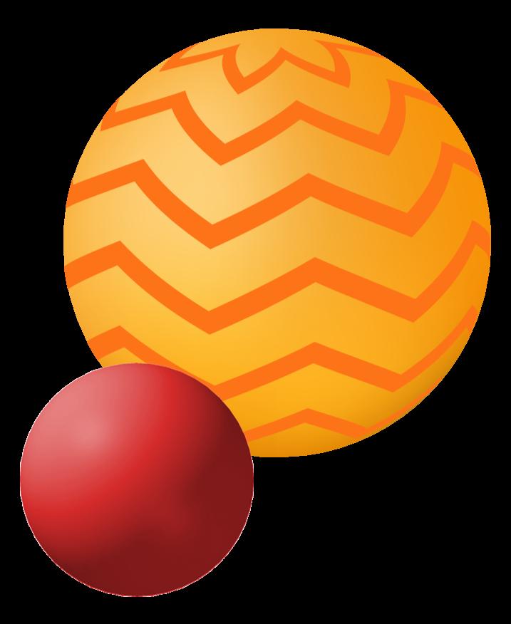 círculos amarillo y rojo